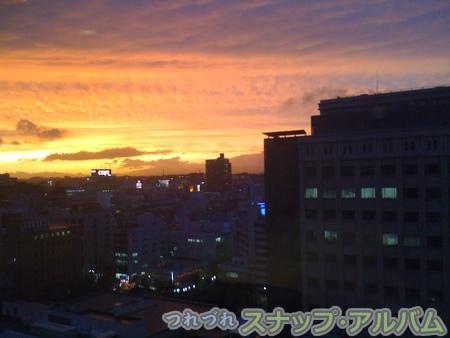 会社からの夕日