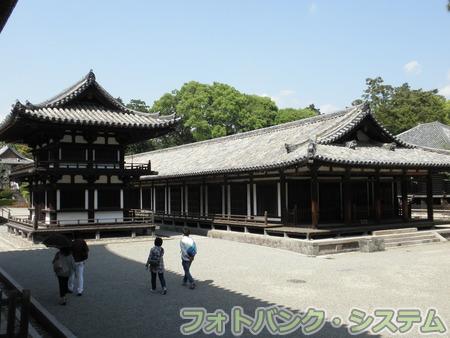 唐招提寺:鼓楼と礼堂