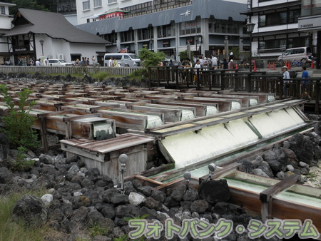 草津温泉:湯畑
