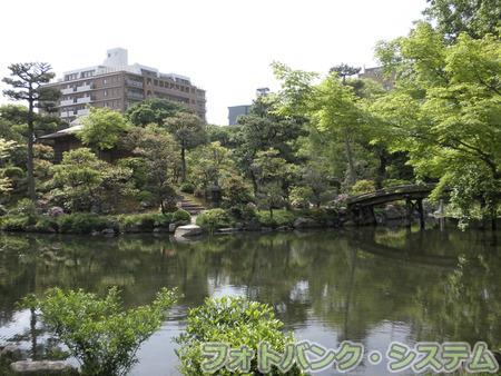 渉成園:印月池と縮遠亭