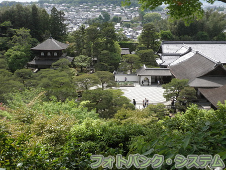 慈照寺(銀閣寺):裏山展望台から