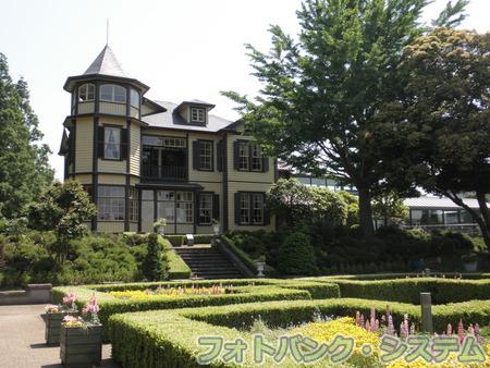イタリア山公園-庭園から見た外交官の家