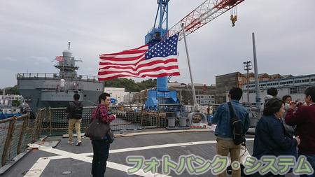 駆逐艦カーティス・ウィルバー―艦尾の星条旗