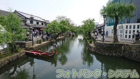 倉敷美観地区―運河の曲がり角